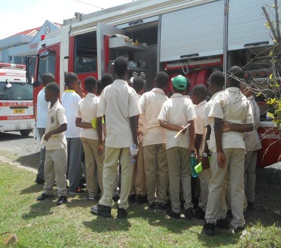 Laborie Boys' Primary School students