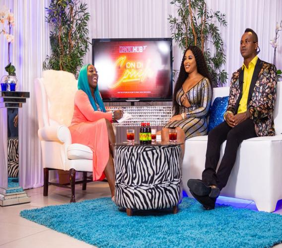 Magnum Ambassador  Spice (left) is joined on set by Donisha of Loud Fashion and Marlon Samuels aka The Icon for the first episode of her new talk show Spice It Up! The show premieres on Wednesday November 13 at 4pm on Magnumhub.tv