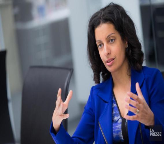 Dominique Anglade, députée de la circonscription de Saint-Henri Saint-Anne et candidate à la présidence du Parti Libéral du Québec./Photo: La Presse.ca