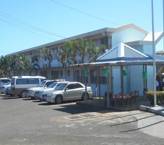 A section of the Anse Ger Secondary School