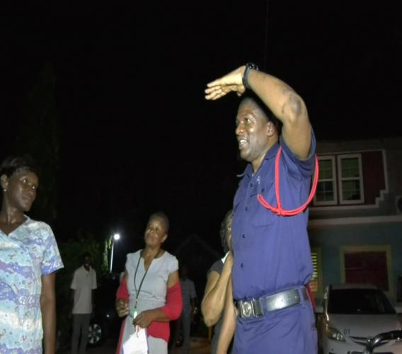 District Officer Dilton Pike of the Fire Prevention Unit in the Jamaica Fire Brigade addressed the wards and administrators at the Mustardseed Community children's home, My Father's House after a fire drill at the facility.