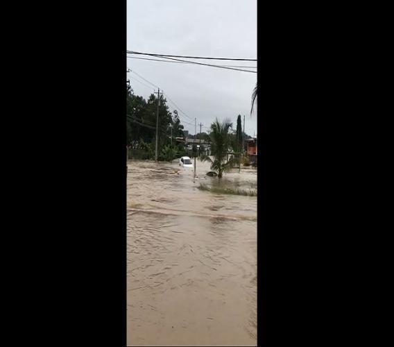 Flood waters in T&T (FILE)