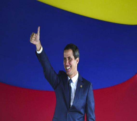 Juan Guaido le 23 juillet 2019 à Caracas. AFP/Archives / Yuri CORTEZ