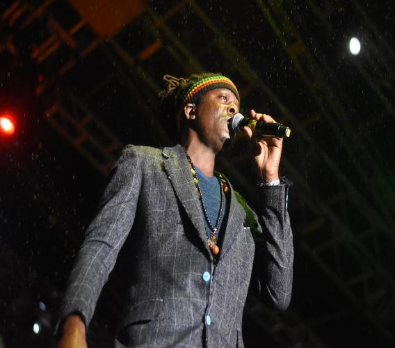 Richie Spice performs at Rebel Salute 2020 on Sunday morning. (Photo: Marlon Reid)