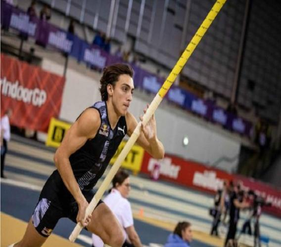 Swedish pole vaulter Armand Duplantis.