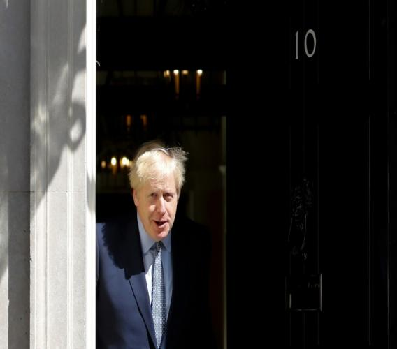 British Prime Minister Boris Johnson, 55  gas been quarantined in his Downing Street residence since being diagnosed with COVID-19 on March 26. (AP Photo)
