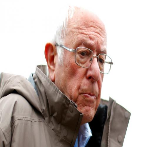 In this March 10, 2020, file photo Democratic presidential candidate Sen. Bernie Sanders, I-Vt., visits outside a polling location at Warren E. Bow Elementary School in Detroit. (AP Photo/Paul Sancya, File)