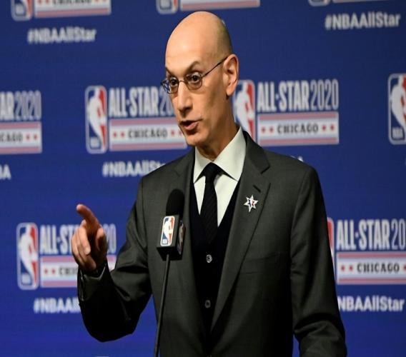 Le commissaire de la NBA Adam Silver, le 15 février 2020 à Chicago