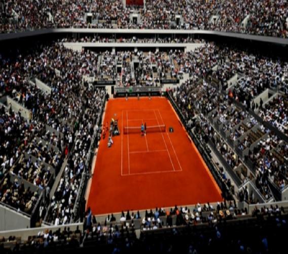 Court Philippe-Chatrier at Roland Garros.