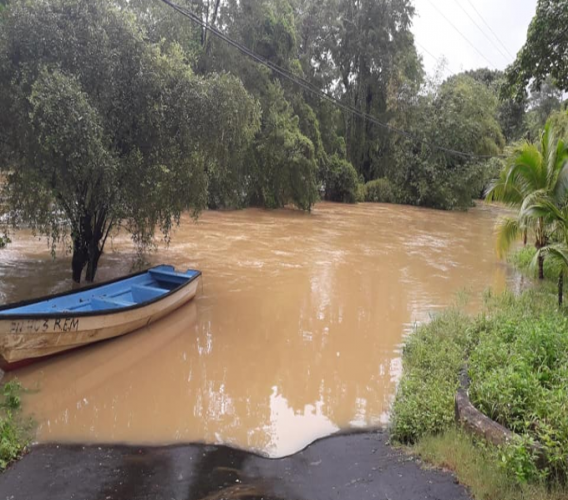Photo: Flooding in South Trinidad after heavy rainfall in 2018.