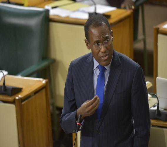 Minister of Finance and the Public Service, Dr Nigel Clarke.