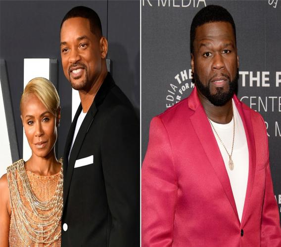 Jada Pinkett Smith, Will Smith et 50 Cent.