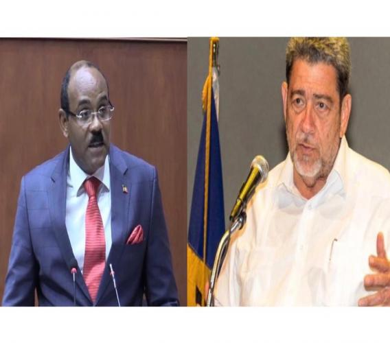 (left) PM Gaston Browne and (right) PM Ralph Gonsalves