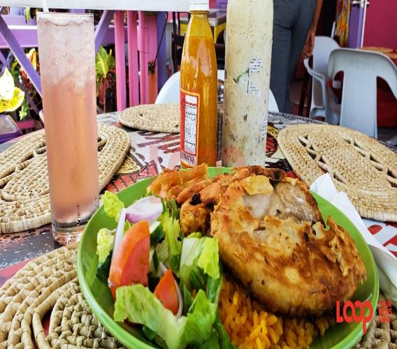 Bajan food from a stop in Bathsheba. So yummy!