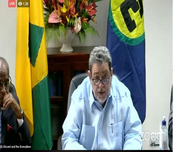 CARICOM Chairman Dr Ralph Gonsalves