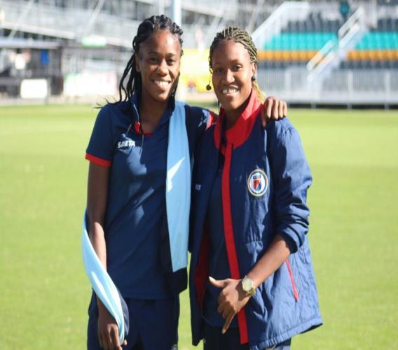 Mélissa Dacius et Angeline Gustave. Photo: Haiti Tempo