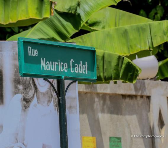 La rue qui porte le nom de Maurice Cadet située au Cap Lamandou, à Jacmel/ Photo:Mairie de Jacmel/Facebook