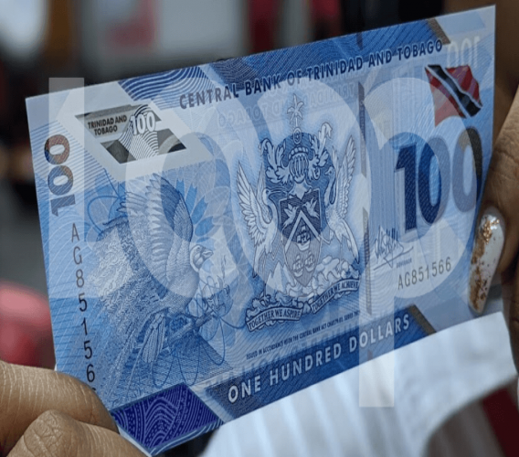 Pictured: The $100 polymer bill came into circulation in December 2019 as the old cotton-based note was demonetised on Decmber 31, 2019. Photo by Darlisa Ghouralal.