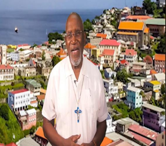 Screen grab of Bishop Clyde Harvey of the Diocese of St George's in Grenada