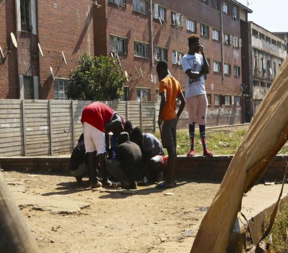 Photo of children playing in Zimbabwe. (AP photo)