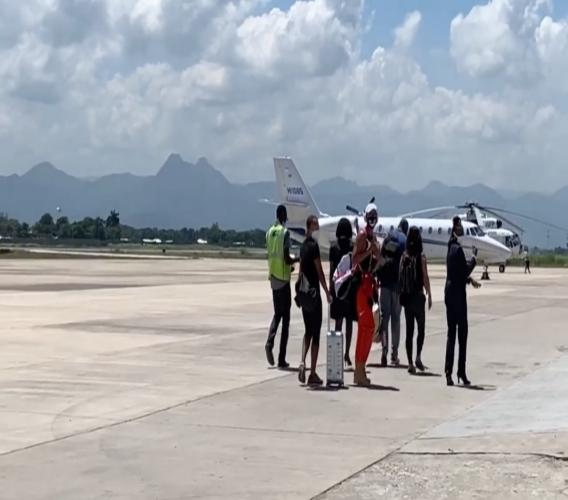 Naomi Osaka à l'Aéroport International du Cap-Haïtien, vendredi 25 septembre 2020/ Capture d'écran: Luckenson Jean/LoopHaïti