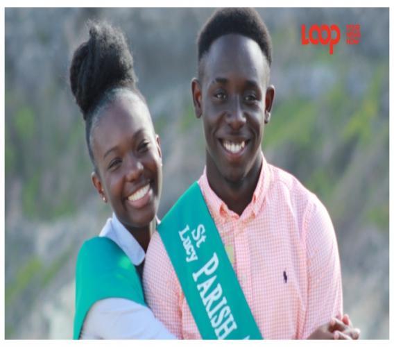 2019 St Lucy Parish Ambassador Yohance Johnson with his female counterpart Rashonda Hayde