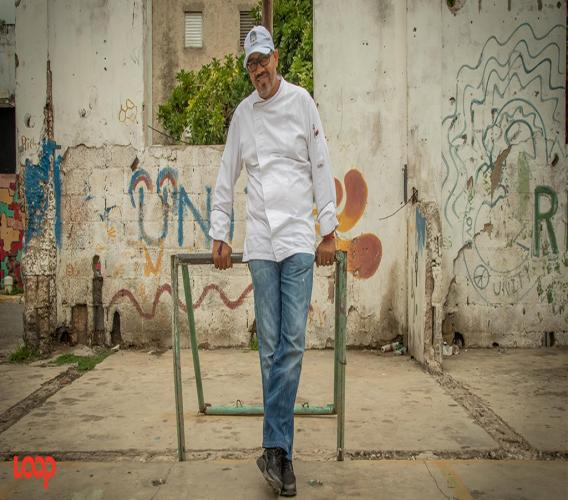 Executive Chef Rui Sá on Fleet Street, downtown Kingston. (Photos: Shawn Barnes)