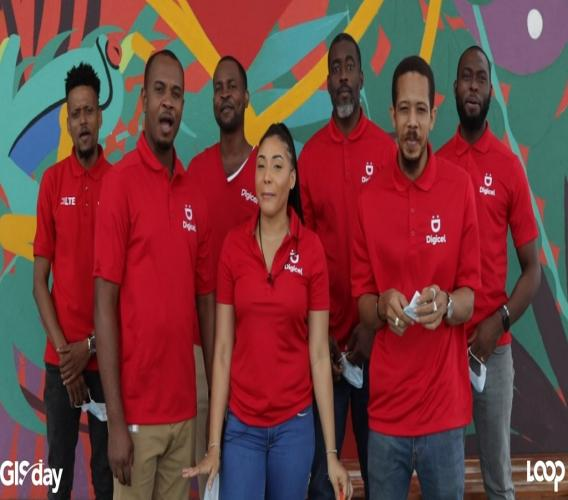 Members of Digicel's GIS team in Jamaica pose for a group photo in celebration of GIS Day.