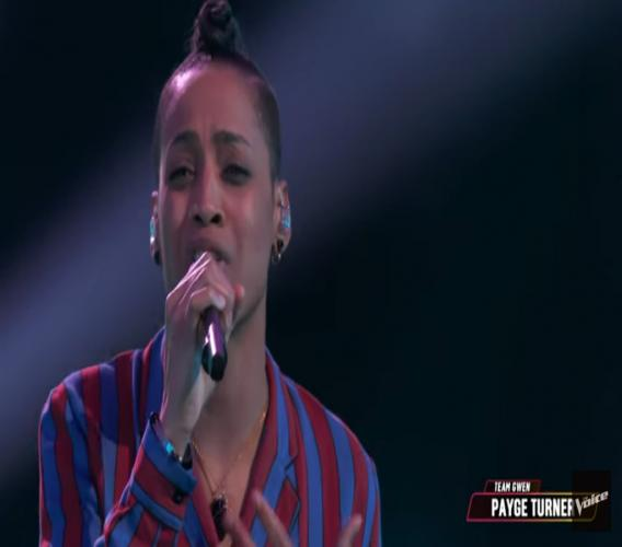 Payge Turner is out of The Voice after she failed to secure America's votes to secure a place in the top nine.