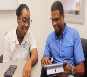 Veronica Millington and Khalil Bryan of Caribbean Transit Solutions.