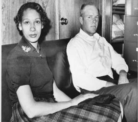 his Jan. 26, 1965 file photo shows Mildred Loving and her husband Richard P Loving. Fifty years after Mildred and Richard Loving's landmark legal challenge shattered the laws against interracial marriage in the U.S., some couples of different races still talk of facing discrimination, disapproval and sometimes outright hostility from their fellow Americans. (AP Photo)