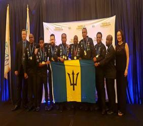 The triumphant Barbados team at the 2017 Taste of the Caribbean in Miami.