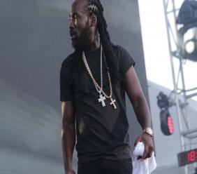 Mavado during his performance at Reggae Sumfest on Saturday morning.