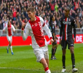 Klaas-Jan Huntelaar is met 42 doelpunten tweede op de topscorerslijst aller tijden van Oranje achter Robin van Persie (50 goals). (Foto: ANP)
