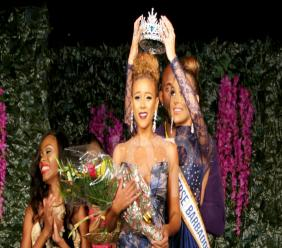 Miss Universe Barbados 2017, Lesley Chapman-Andrews, was crowned on Saturday night. (PHOTO: Richard Grimes)