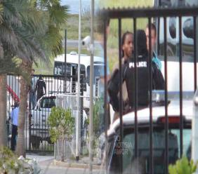 Inmates arriving in Curacao.