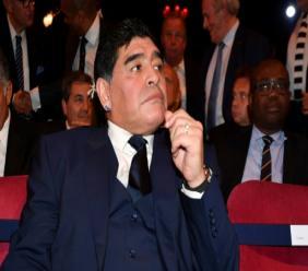 AFP/Archives / Ben STANSALL  L'ancien footballeur argentin Diego Maradona, le 23 octobre 2017 à Londres