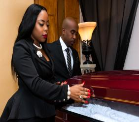 (left) Alva Stuart, Co-Director of Andrew. T. Cleckley Funeral Services Inc.