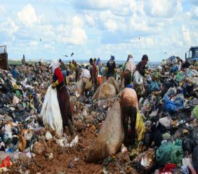 'Catadores' - vuilrapers op de vuilnisbelt in Brasilia. Foto: Philip Reeves/NPR