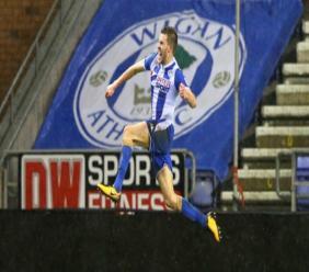 Wigan Athletic's Callum Elder.