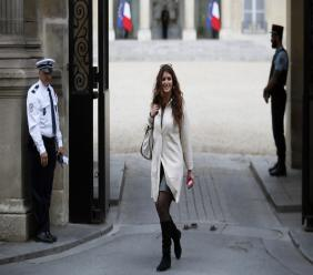 (Image: AP:  Marlene Schiappa leaves the Elysee Palace in Paris on 18 March 2018)