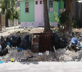 Dumping spot along Cypress Street in The City.