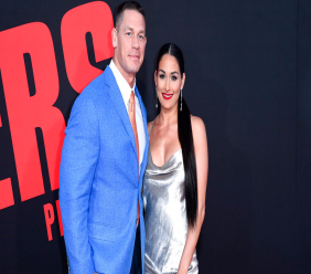 """In this Tuesday, April 3, 2018, photo, John Cena, left, and Nikki Bella attend the LA Premiere of """"Blockers"""" at the Regency Village Theatre in Los Angeles. (Photo by Richard Shotwell/Invision/AP)"""