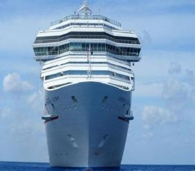 Loop stock photo of a cruise ship.