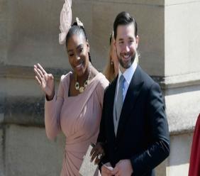Serena Williams and husband Alexis Ohanian at the Royal Wedding.