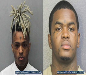 XXXTentacion (left) and suspect Dedrick Devonshay Williams