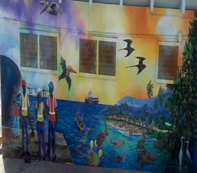 The environmental mural which was recently painted on a wall near the company's entrance to showcase KFTL's commitment to pursue its business goals in harmony with the environment and stakeholders.