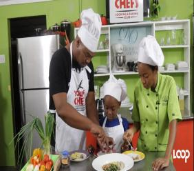 Donovan Watkis and his son Marquis Jordon joined Chef Latoya Panton in the Kitchen.