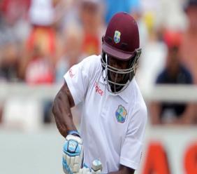 Devon Smith in action for West Indies.