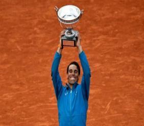 L'Espagnol Rafael Nadal remporte son onzième Roland-Garros aux dépens de l'Autrichien Dominic Thiem en finale, le 10 juin 2018. Photo AFP